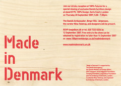 Made in Denmark | Danish Arts Council (bobeightpop) Tags: wood red screenprint invite materials bep madeindenmark danishartscouncil bobeightpop bepscreenprint danishartsagency