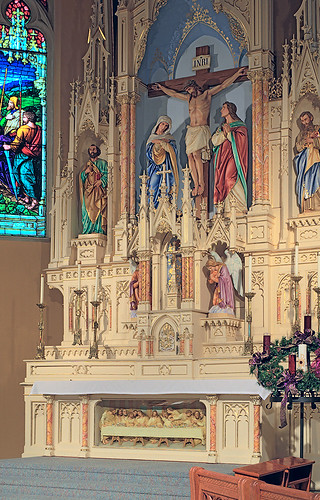 Saint George Roman Catholic Church, in New Baden, Illinois, USA - altar