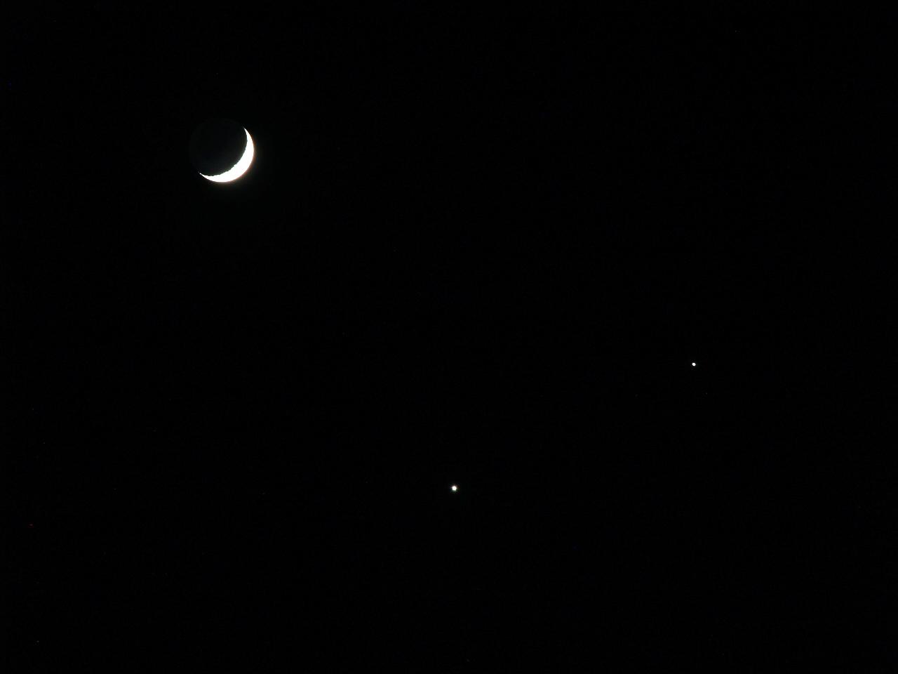 Moon, Venus Jupiter