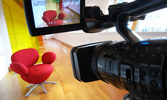 video sony hdv interview z1 ricoh camcorder redchair gx100 tiemic