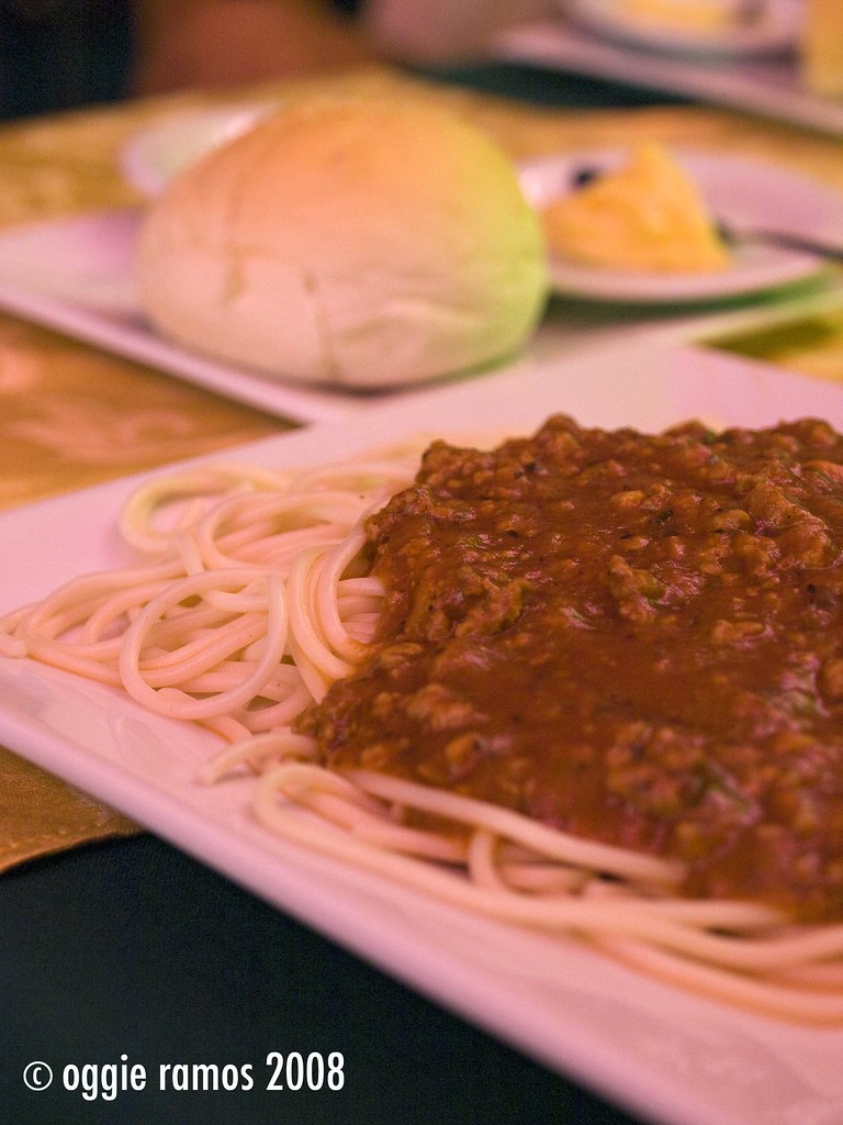 Spaggheti Americano with Bread and Butter