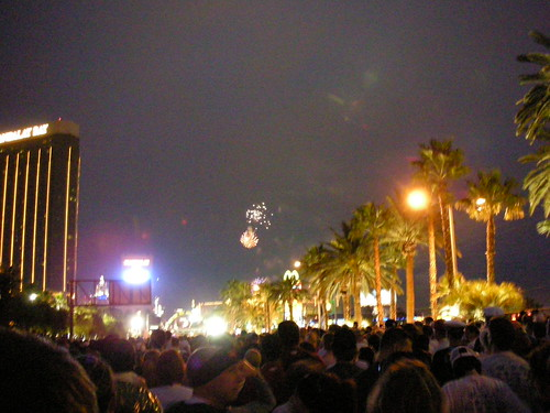 The slow crawl to the Start Line was worth it. Imagine 10,000 people singing Viva Las Vegas while fireworks explode and Elvis impersonators perform.