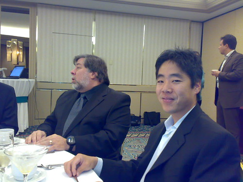 Miko and Steve Wozniak having Breakfast