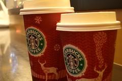 christmas cup (aki.sato) Tags: christmas coffee starbucks