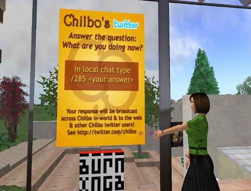 Chilbo Public Twitter Station - Instructions Poster