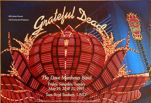 BGP116 Grateful Dead 5/19, 5/20 & 5/21/95 (with the Dave Matthews Band) @ Sam Boyd Stadium (Silver Bowl) - University of Nevada, Las Vegas (UNLV) - Photo by Jonathan Hess, art direction by Arlene Owseichik [from www.deadlists.com]