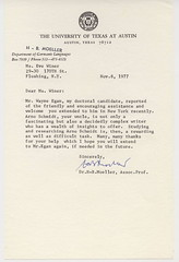 Letter from H.B. Moeller, Nov 8, 1977