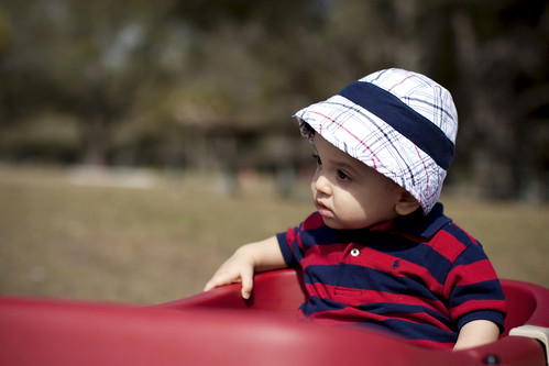 Boy with Old Man Hat