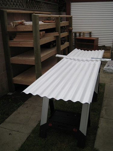 white corrugated plastic