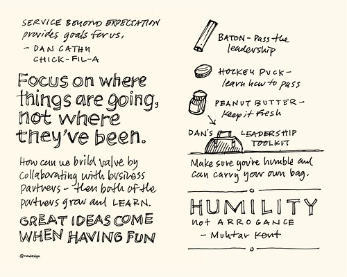Chick-Fil-A Leadercast Sketchnotes 29-30 - Can Cathy & Muhtar Kent