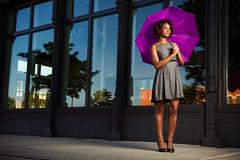 130/365 Purple Umbrella (matthewcoughlin) Tags: woman reflection lady umbrella purple sidewalk flasher speedlite offcameraflash strobist wescottsoftbox mambwemutanuka