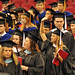 Graduates file into the 2011 Spring Commencement in the RBC Center.