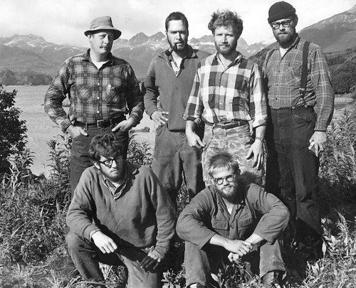1964 Archaeology crew at Kukak Bay, Alaska