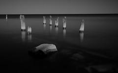 Above Waters (Jo Bet) Tags: longexposure blackandwhite illinois lakemichigan evanston chicagoist nd110 eos7d