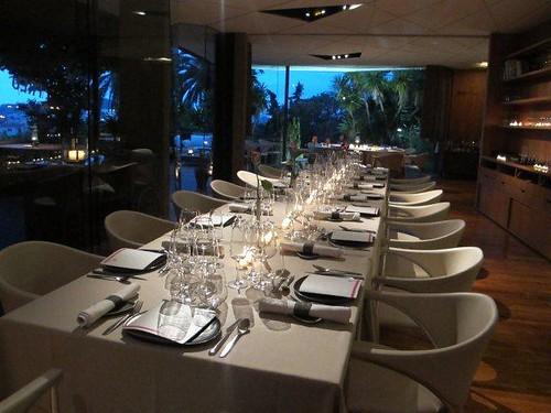 Mesa para la cena en el hotel Guitart Monterrey