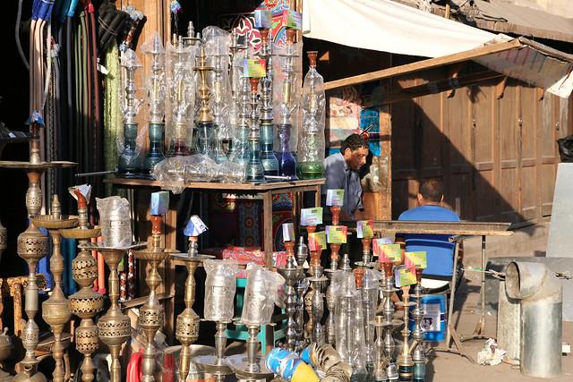 エジプト、カイロ、水タバコ屋