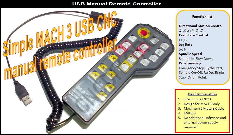 USB Manual Remote Controller - CNCDIY Store