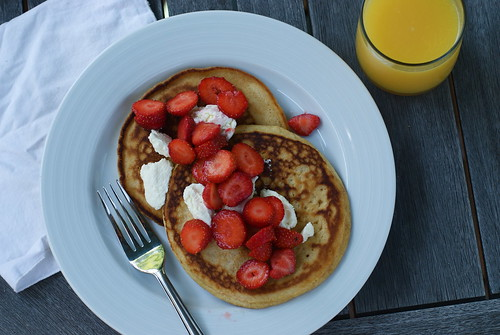 Whole Wheat Whey Pancakes
