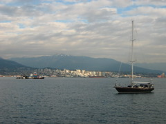 Small boat in Coal Harbour (DennisTsang) Tags: vancouver downtown coalharbour