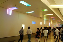 city people mall shopping lights singapore colorful centre link