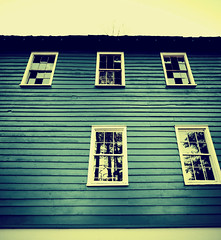 Six, Where Did You Go? (Erik Holmberg) Tags: blue windows house broken window beautiful six sixwheredidyougo