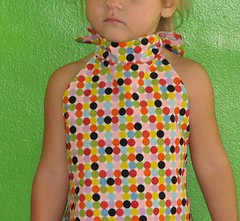 The Halter Dress in Happy Dots