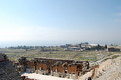 Hierapolis, travertines, valley 2 (korayatasoy) Tags: city turkey kent ancient top aegean valley amphitheater travertine ova pamukkale ege antik tiyatro denizli hierapolis tepe karahayt traverten amfitiyatro
