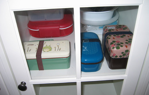 Bento Boxes in Cabinet