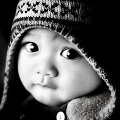 Mr Big Eyes... (wazari) Tags: boy portrait blackandwhite baby monochrome smile face kids pose children bigeyes eyes nikon asia child emotion expression posing son myson malaysia emotional anakku melayu malay wajah anak potret 50mmlens nikond200 bwdreams availablelightphotography naturallightphotography anakkecil mywinners hitamputih haiqal theunforgettablepictures platinumheartaward wazari expressi aseankids