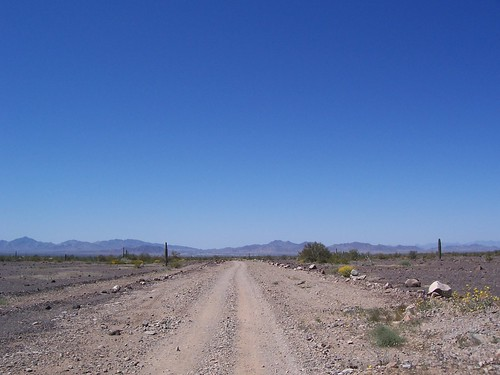 Desert road near Quartzite, Arizona