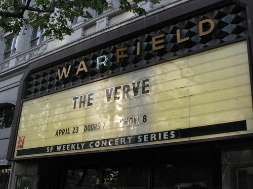 The Verve, Warfield, April 23, 2008