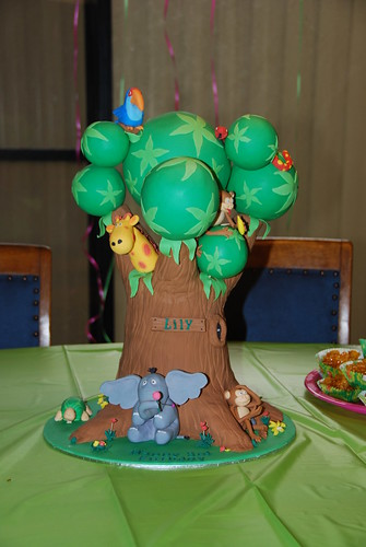 Lily's 3rd Birthday cake - Front view