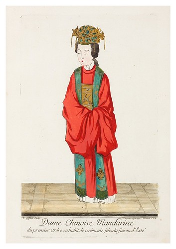 Dama china mandarin de 1º orden en ropa de ceremonia