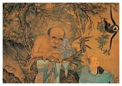 Lohan-ascetas budistas-parte-Liu Sung Nien -1207 Dinastia Sung-tamaño 117X56 cms