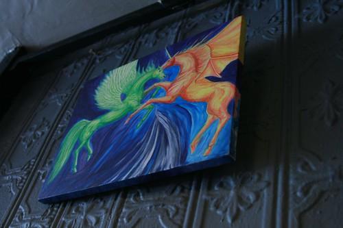 flying unicorn art