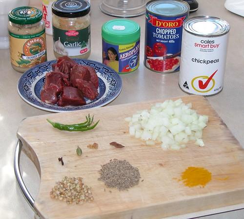 Beef & chickpea curry setup