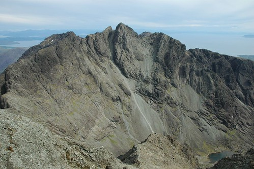 Sgurr Alasdair and the great stone shute