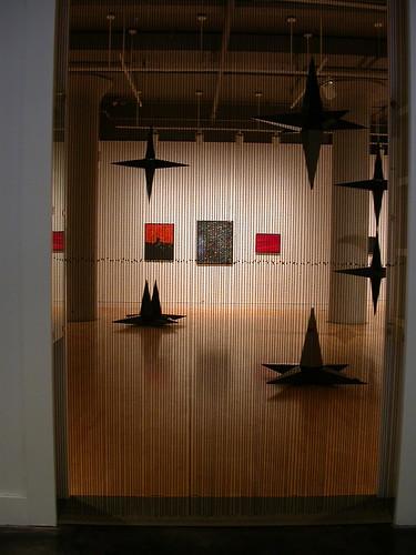 Joy Feasley, black beaded curtain