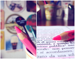 studying in pink. (*northern star°) Tags: camera wood pink muro wall pencil paper book desk room rosa libro philosophy explore revolution hate parete scrivania carta matita collezione legno stanza filosofia inmyroom odio northernstar fuxia rivoluzione explored donotsteal ©allrightsreserved nellamiastanza northernstarandthewhiterabbit northernstar° sottobicchieri tititu usewithoutpermissionisillegal northernstar°photography ifyouwannatakeitforpersonalusesnotcommercialusesjustask