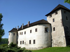 slovakia. zvolen castle 2 (kexi) Tags: old blue windows wallpaper sky white black green tower castle architecture spring ancient nikon may coolpix slovensko slovakia 2008 coolest chimneys oldcity easterneurope zvolen instantfave kartpostal