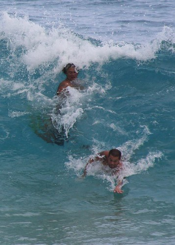 Body Surfing At Sandy Beach Oahu