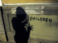 Creepy graffiti (douglemoine) Tags: sanfrancisco shadow adventurewalk maragreenaway gwsf5party gwsflexicon