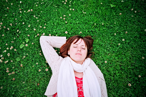 sleepy Sue in the clover field