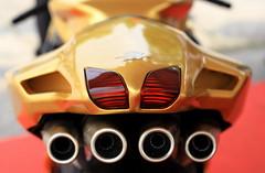 (Turbomatte) Tags: mvagusta f4 oro gold revival2008 cascinacosta canon30d ef50mmf18 theunforgettablepictures scarico marmitta tubi fanale