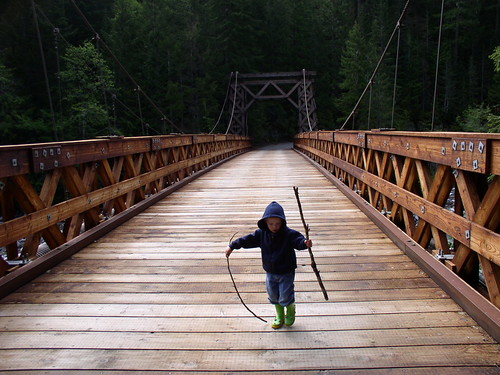 Daniel on the Longmire Bridge by The Bacher Family