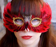 (Cittavritti) Tags: red portrait girl catchycolors mask redlips portret ola catchycolorsred