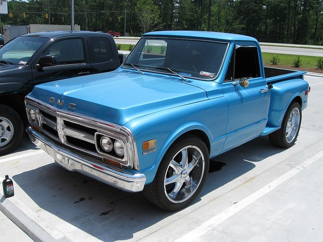 bowtie pickup 1972 gmc v8 dubs