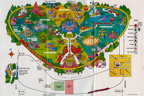 map of disneyland park