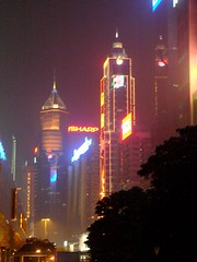 Hongkong: at night (not so SHARP) (Adfoto) Tags: vertical night hongkong neon avond hongkongisland verticaal