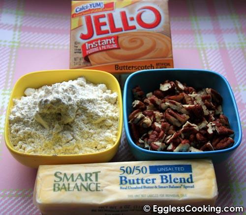 Eggless Pecan Cookies Ingredients